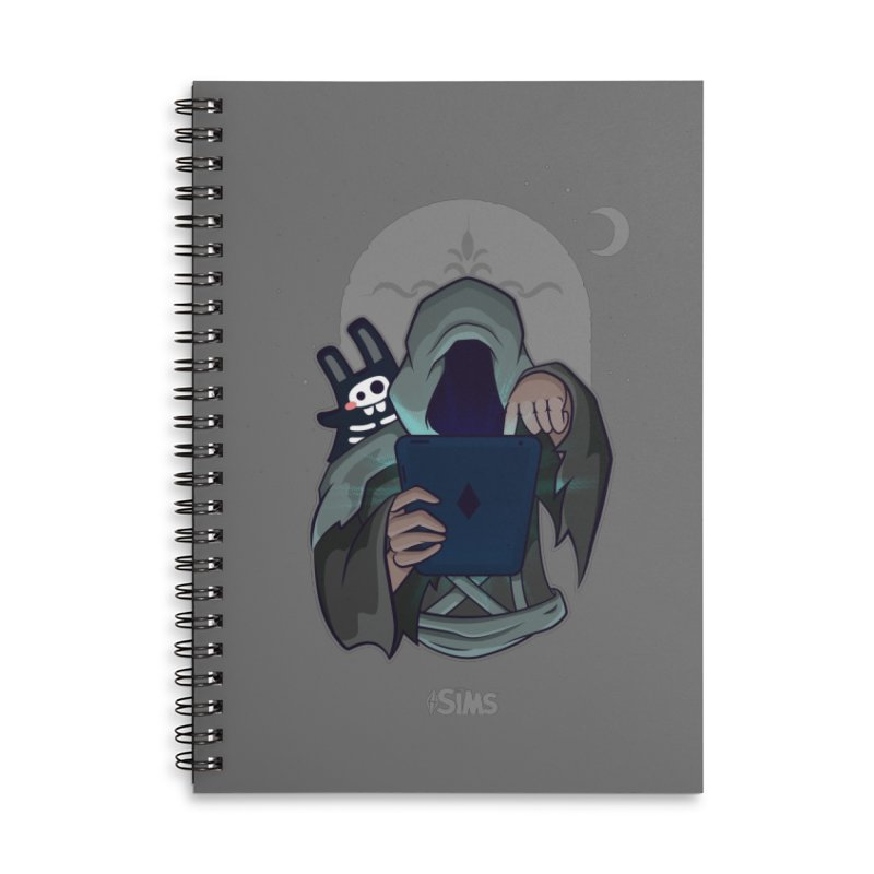 Grim Reaper - Grey Accessories Lined Spiral Notebook by The Sims Official Threadless Store