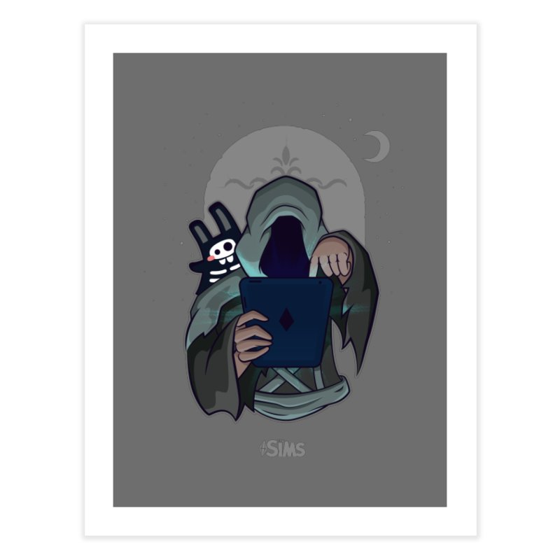 Grim Reaper - Grey Home Fine Art Print by The Sims Official Threadless Store