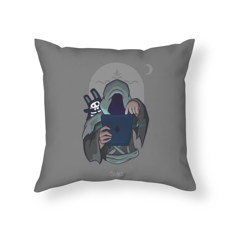 Grim Reaper - Grey Home Throw Pillow by The Sims Official Threadless Store