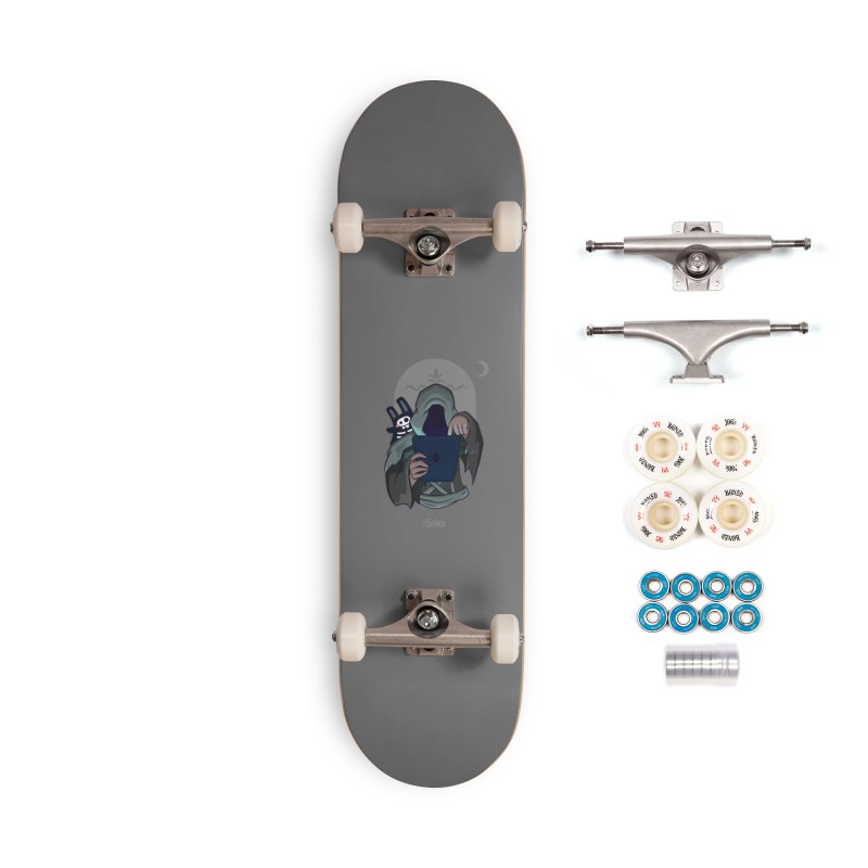 Grim Reaper - Grey Accessories Complete - Premium Skateboard by The Sims Official Threadless Store