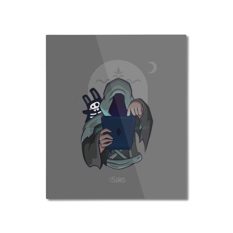 Grim Reaper - Grey Home Mounted Aluminum Print by The Sims Official Threadless Store