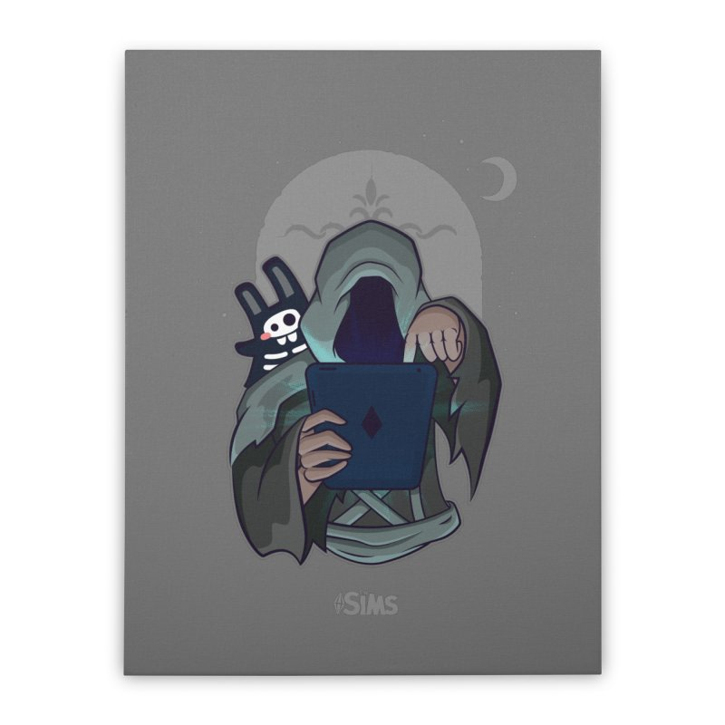 Grim Reaper - Grey Home Stretched Canvas by The Sims Official Threadless Store