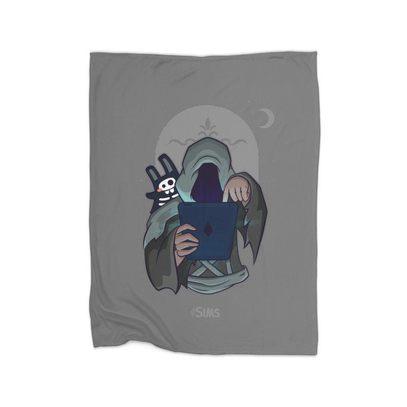 Grim Reaper - Grey Home Fleece Blanket Blanket by The Sims Official Threadless Store