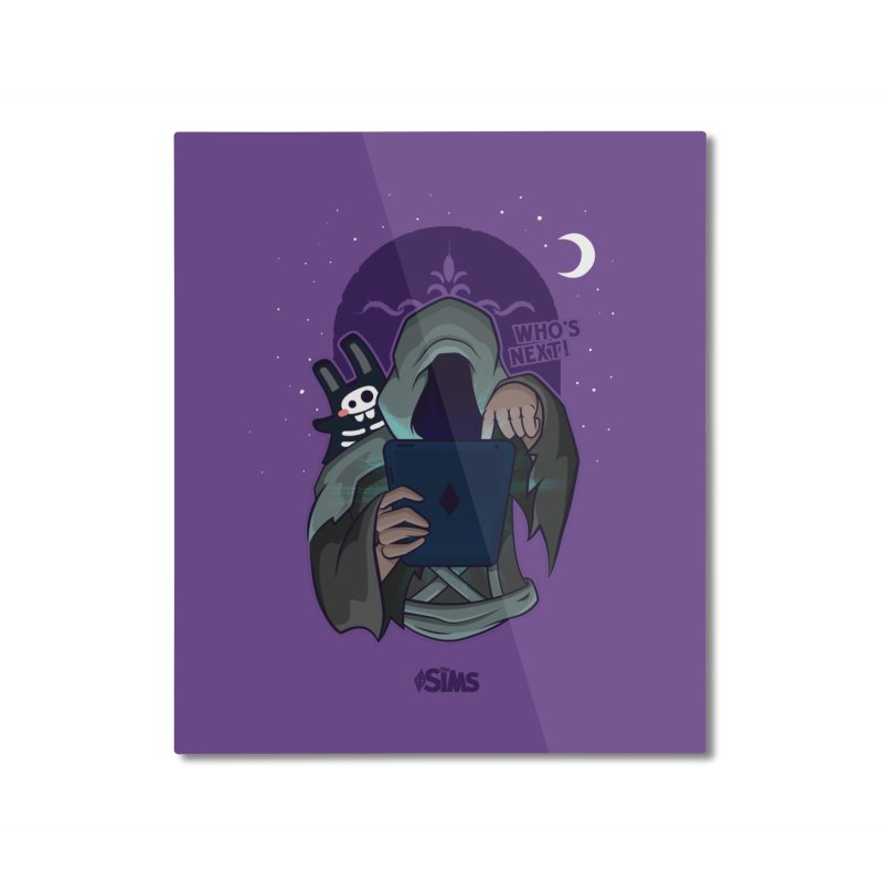 Who's next? Home Mounted Aluminum Print by The Sims Official Threadless Store