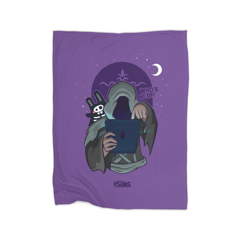Who's next? Home Fleece Blanket Blanket by The Sims Official Threadless Store