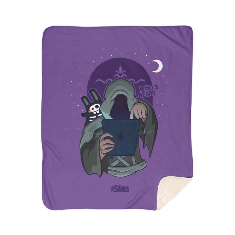 Who's next? Home Sherpa Blanket Blanket by The Sims Official Threadless Store