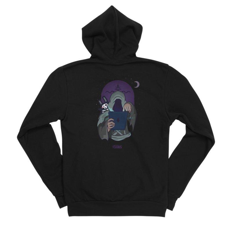Grim Reaper - Purple Women's Sponge Fleece Zip-Up Hoody by The Sims Official Threadless Store