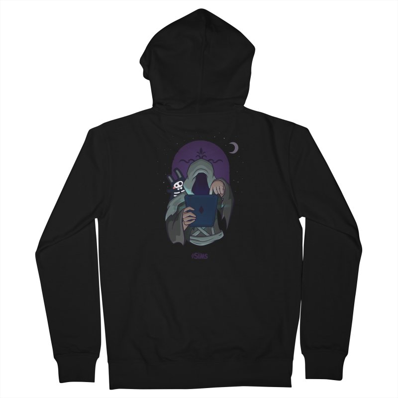 Grim Reaper - Purple Women's French Terry Zip-Up Hoody by The Sims Official Threadless Store