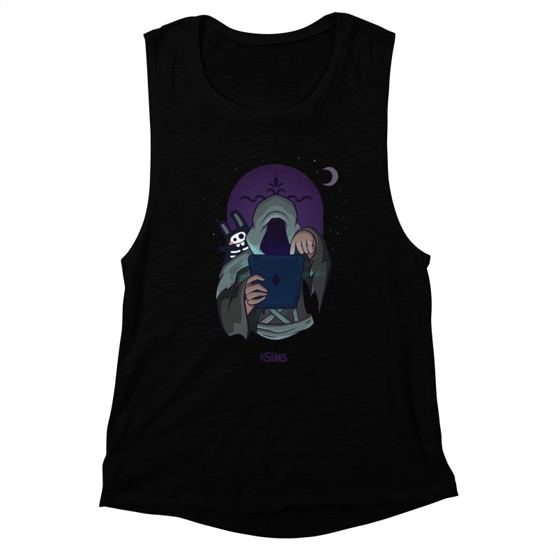 Grim Reaper - Purple Women's Muscle Tank by The Sims Official Threadless Store
