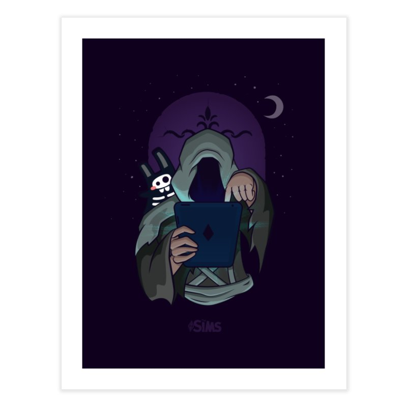 Grim Reaper - Purple Home Fine Art Print by The Sims Official Threadless Store