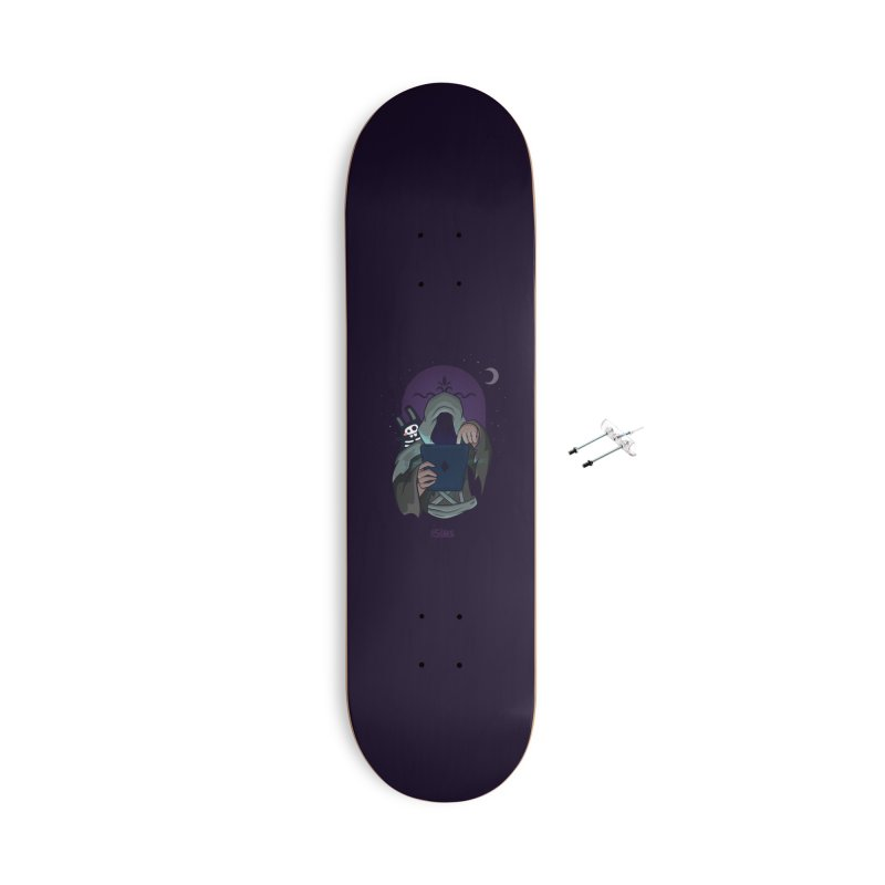 Grim Reaper - Purple Accessories With Hanging Hardware Skateboard by The Sims Official Threadless Store
