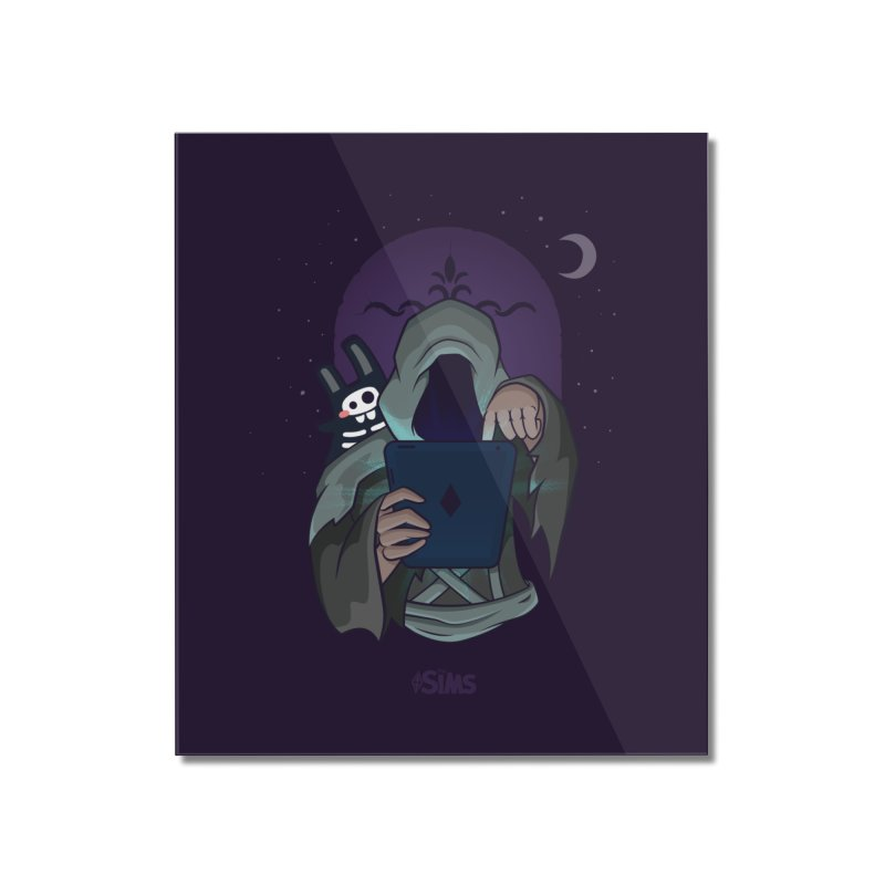 Grim Reaper - Purple Home Mounted Acrylic Print by The Sims Official Threadless Store