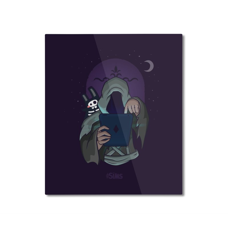 Grim Reaper - Purple Home Mounted Aluminum Print by The Sims Official Threadless Store
