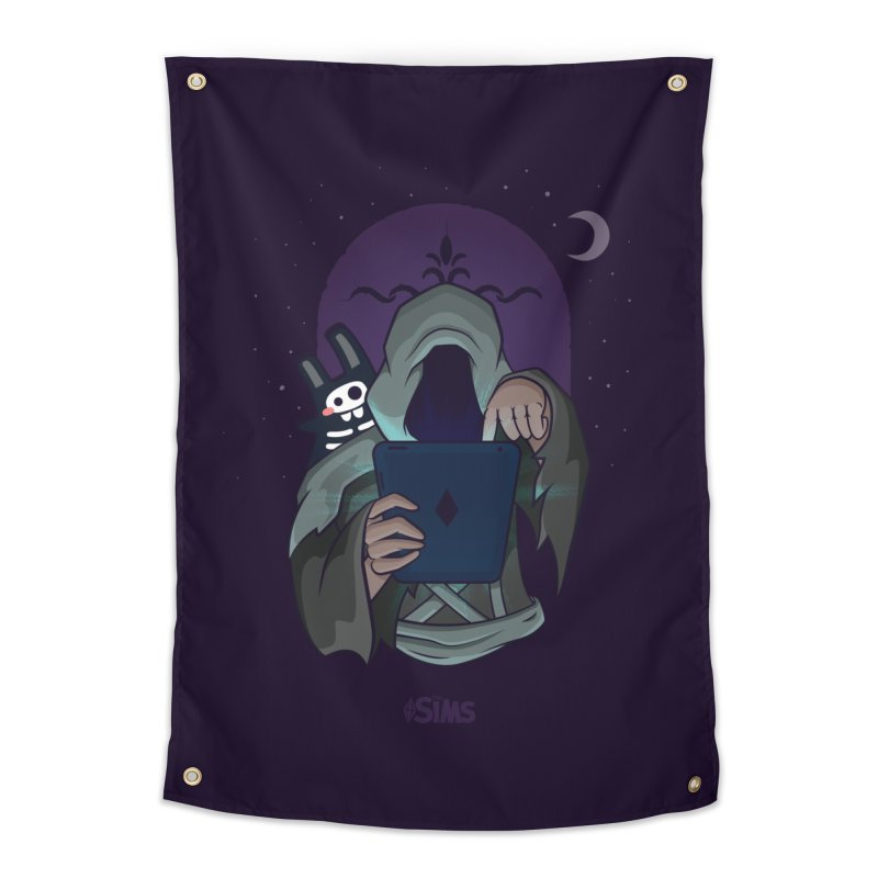 Grim Reaper - Purple Home Tapestry by The Sims Official Threadless Store
