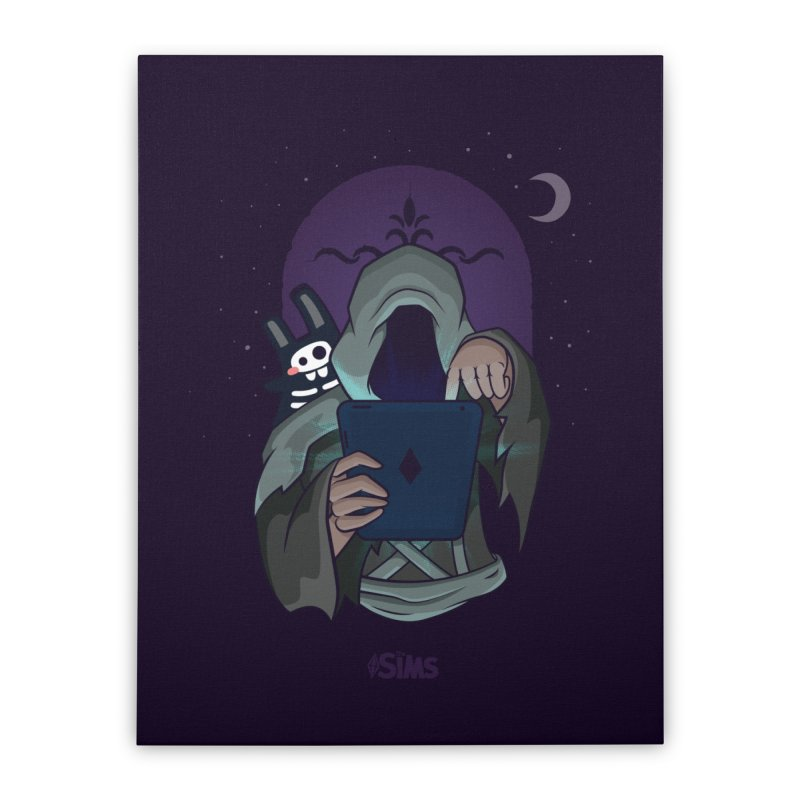 Grim Reaper - Purple Home Stretched Canvas by The Sims Official Threadless Store