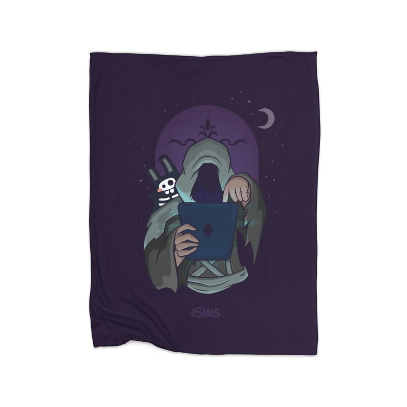 Grim Reaper - Purple Home Fleece Blanket Blanket by The Sims Official Threadless Store