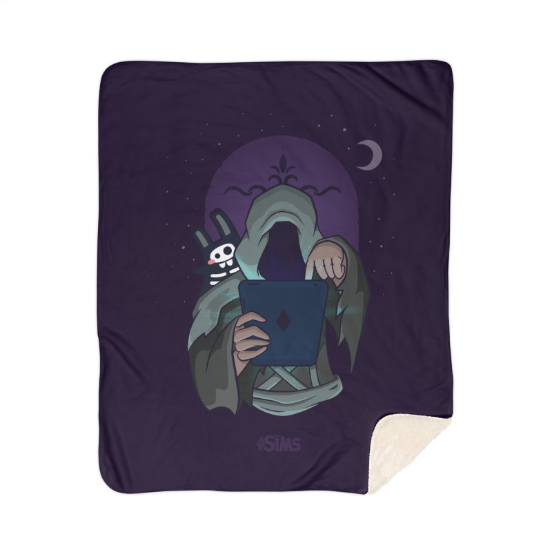Grim Reaper - Purple Home Sherpa Blanket Blanket by The Sims Official Threadless Store