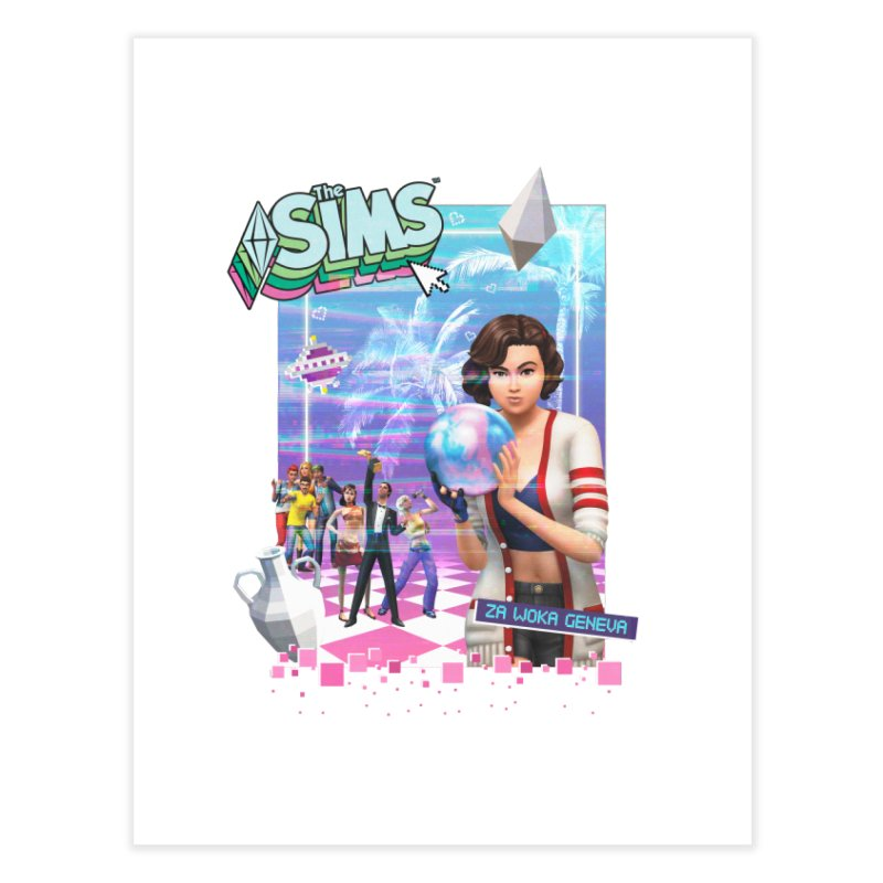 Precious Pixels Home Fine Art Print by The Sims Official Threadless Store