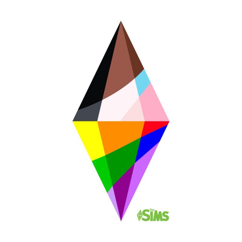 Pride Plumbob Men's T-Shirt by The Sims Official Threadless Store