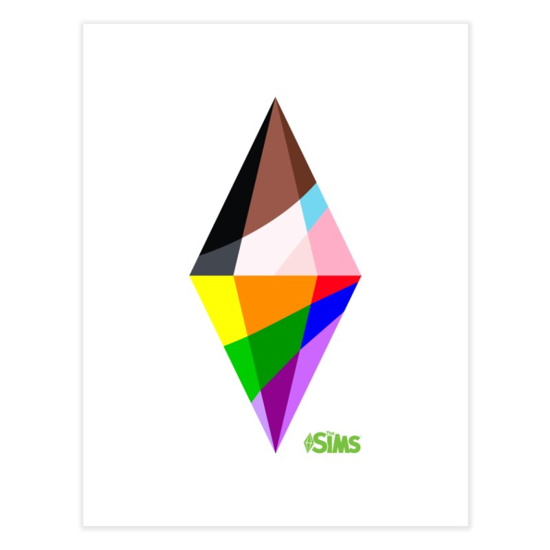 Pride Plumbob Home Fine Art Print by The Sims Official Threadless Store