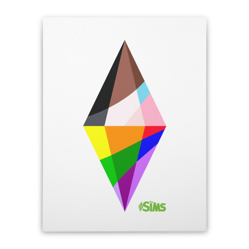 Pride Plumbob Home Stretched Canvas by The Sims Official Threadless Store