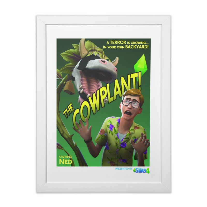 The Cowplant! Home Framed Fine Art Print by The Sims Official Threadless Store