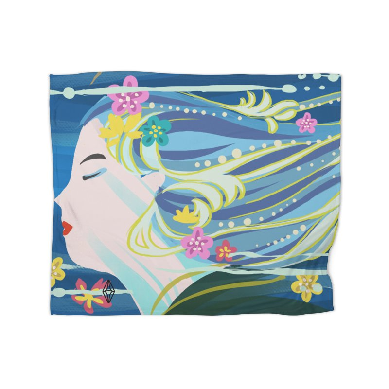 Wind in Her Hair Home Blanket by The Sims Official Threadless Store