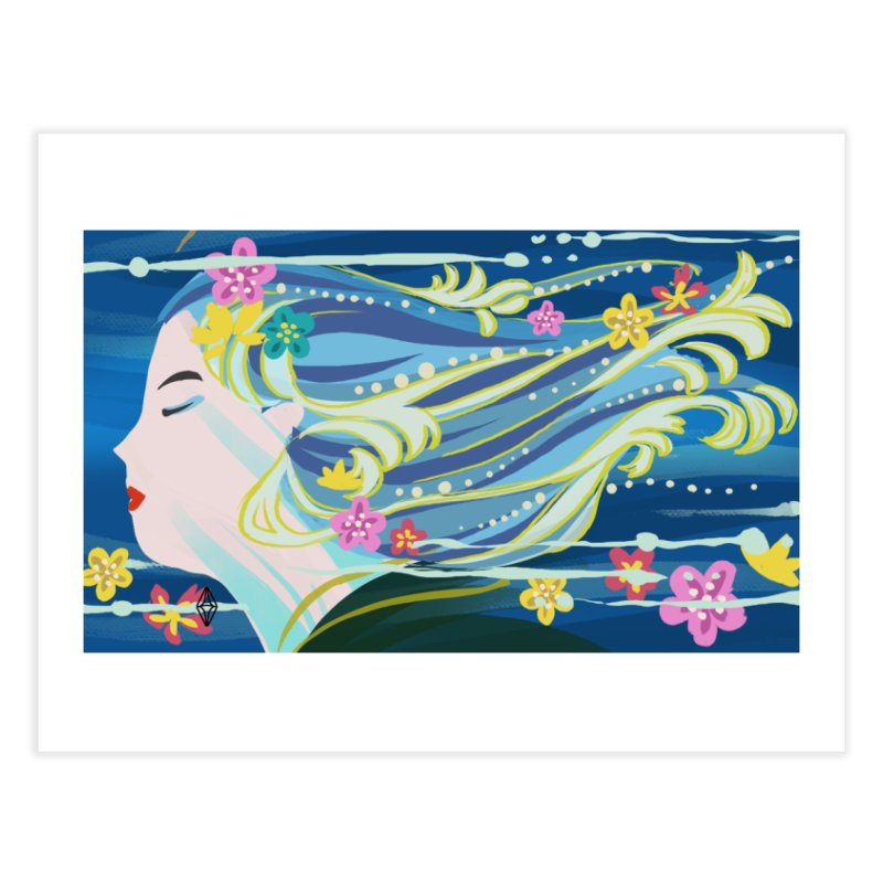 Wind in Her Hair Home Fine Art Print by The Sims Official Threadless Store