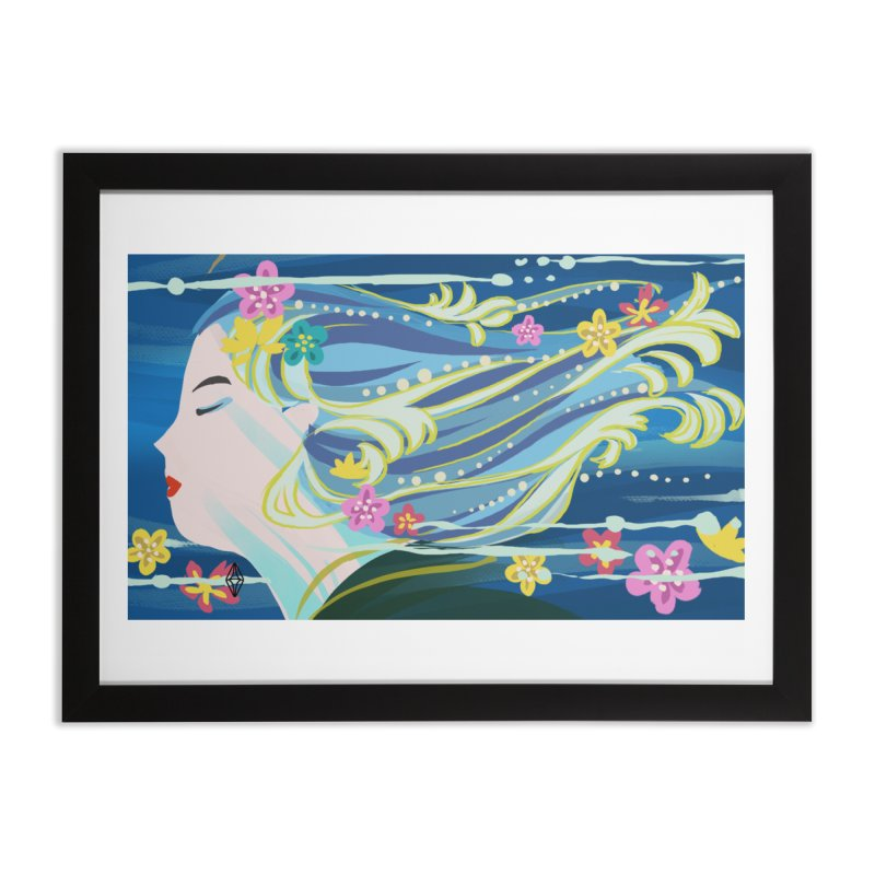 Wind in Her Hair Home Framed Fine Art Print by The Sims Official Threadless Store