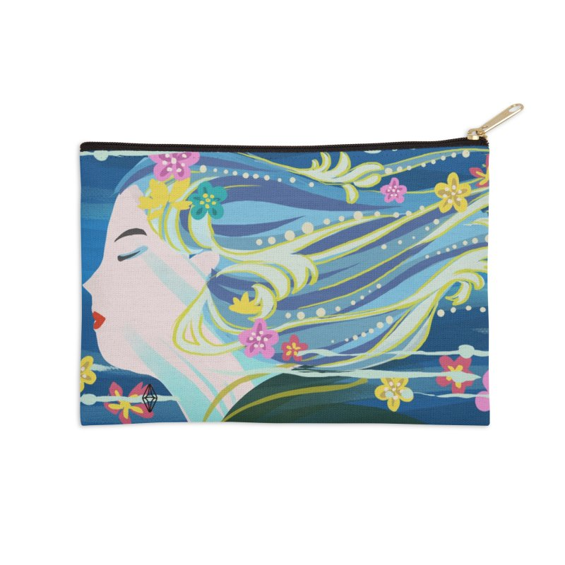 Wind in Her Hair Accessories Zip Pouch by The Sims Official Threadless Store