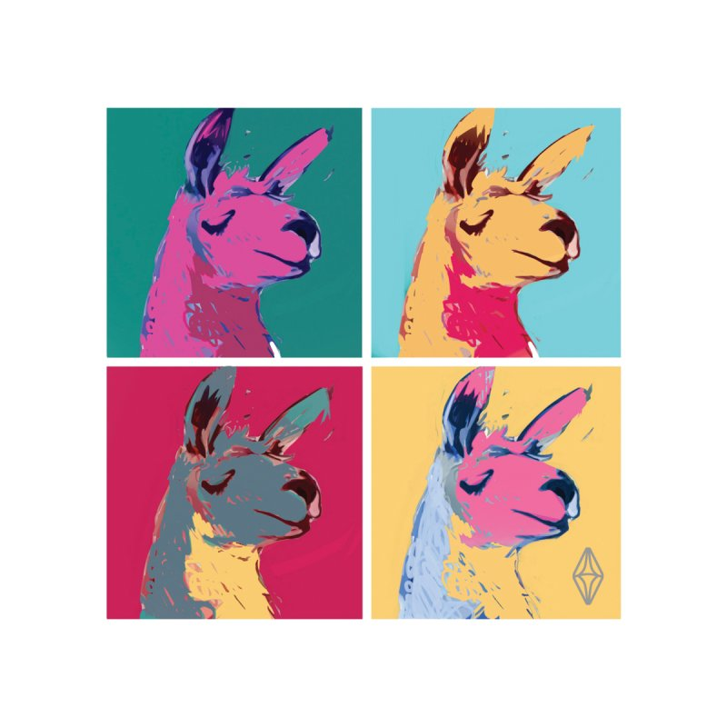 Pop Art Llama Home Blanket by The Sims Official Threadless Store