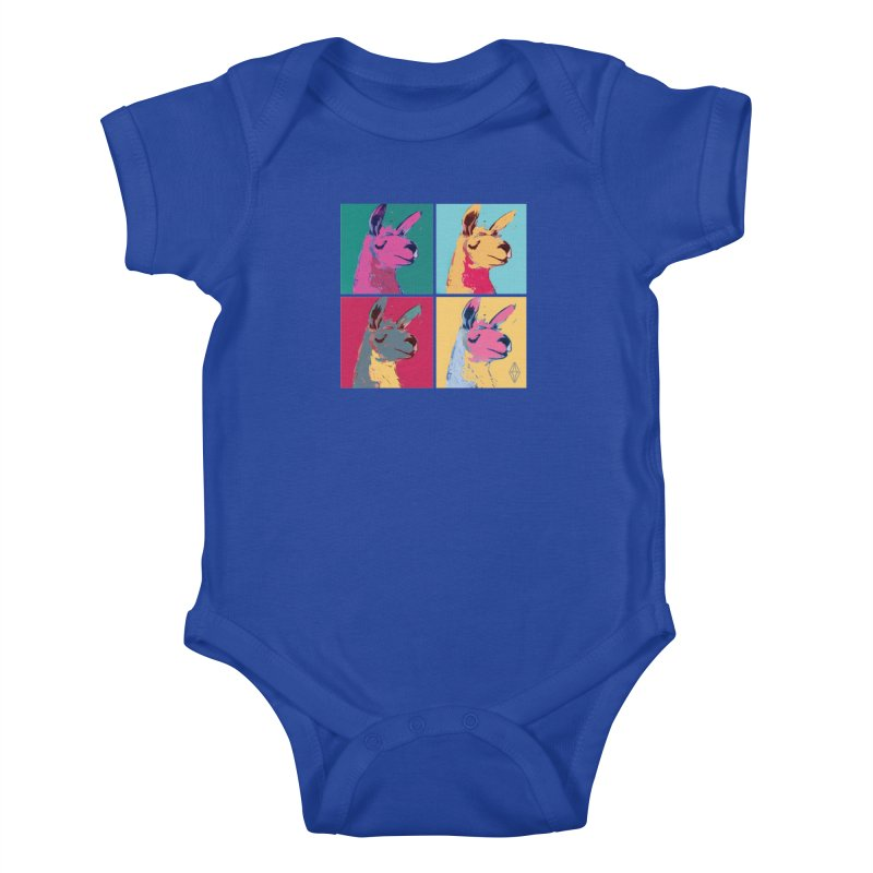 Pop Art Llama Kids Baby Bodysuit by The Sims Official Threadless Store