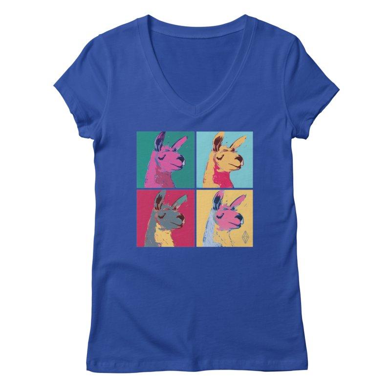 Pop Art Llama Women's V-Neck by The Sims Official Threadless Store