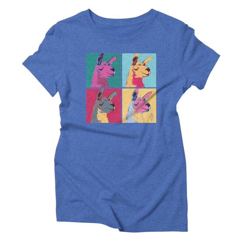Pop Art Llama Women's Triblend T-Shirt by The Sims Official Threadless Store
