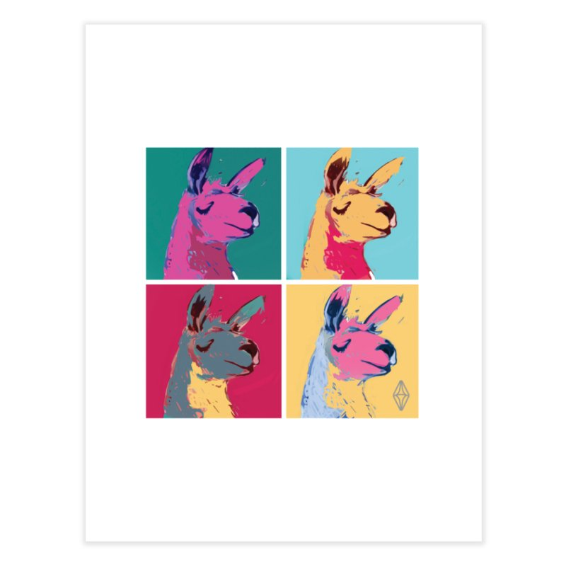 Pop Art Llama Home Fine Art Print by The Sims Official Threadless Store