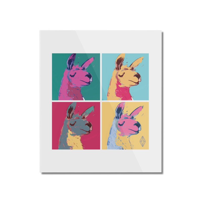 Pop Art Llama Home Mounted Acrylic Print by The Sims Official Threadless Store
