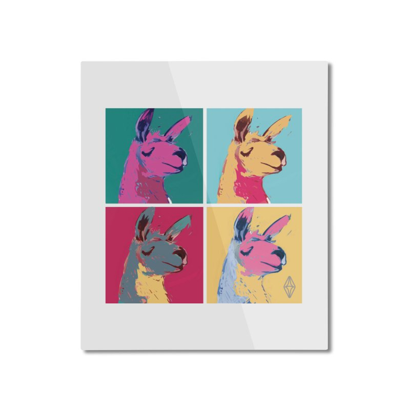 Pop Art Llama Home Mounted Aluminum Print by The Sims Official Threadless Store