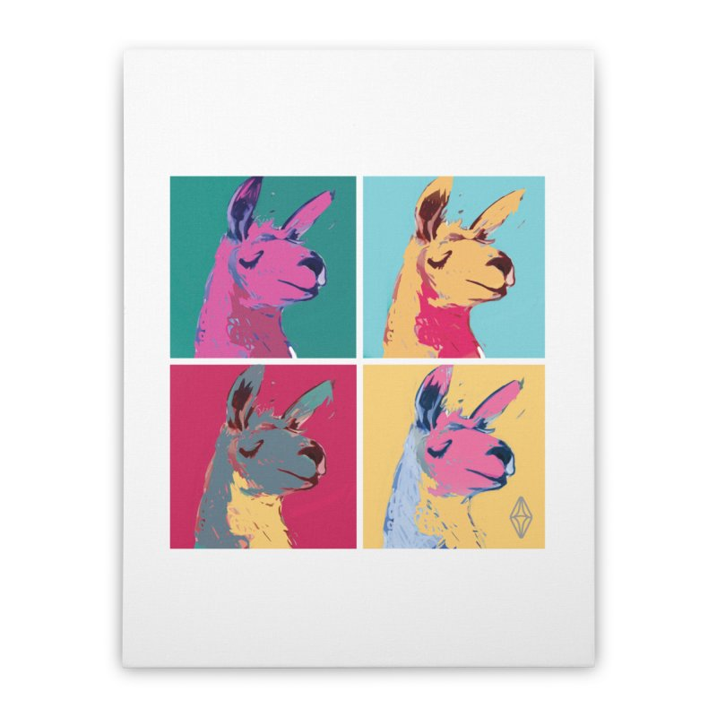 Pop Art Llama Home Stretched Canvas by The Sims Official Threadless Store