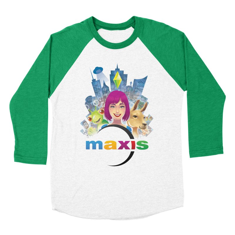 Maxis Studio Art Women's Baseball Triblend T-Shirt by The Sims Official Threadless Store