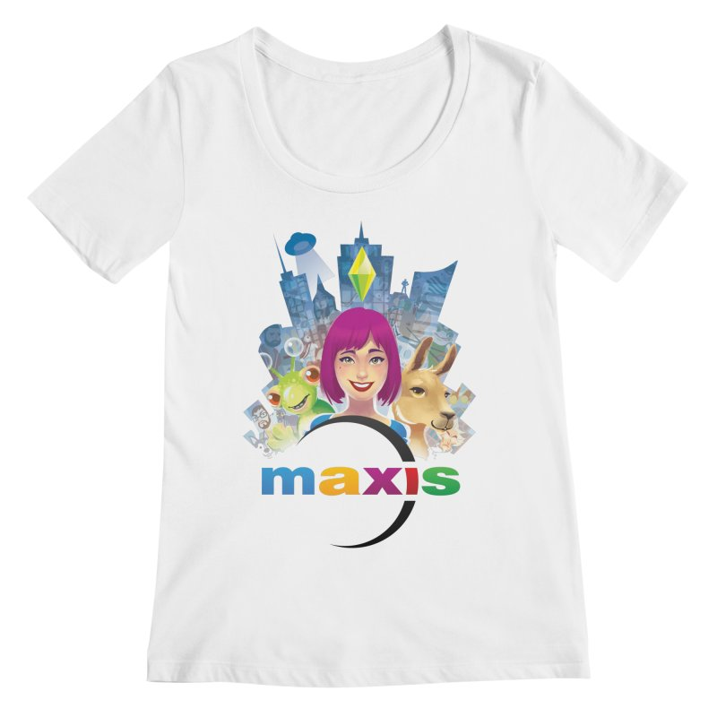 Maxis Studio Art Women's Scoopneck by The Sims Official Threadless Store