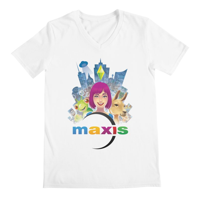 Maxis Studio Art Men's V-Neck by The Sims Official Threadless Store
