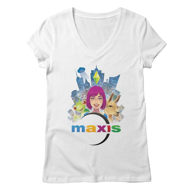 Maxis Studio Art Women's V-Neck by The Sims Official Threadless Store