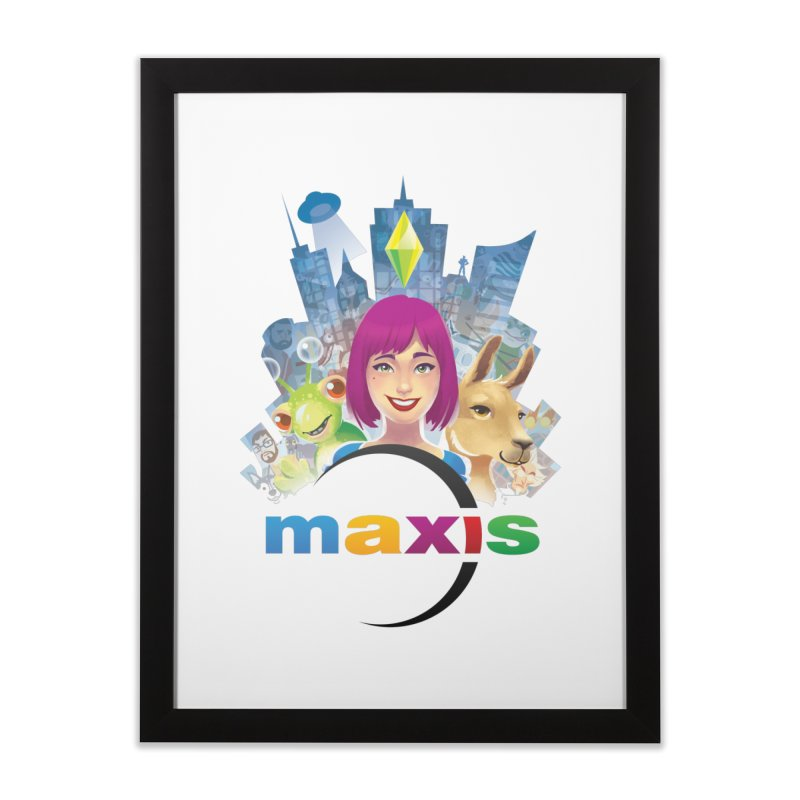 Maxis Studio Art in Framed Fine Art Print Black by The Sims Official Threadless Store