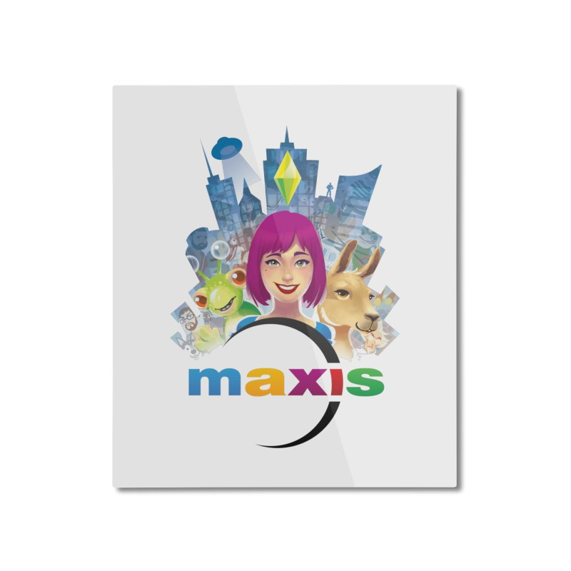Maxis Studio Art Home Mounted Aluminum Print by The Sims Official Threadless Store