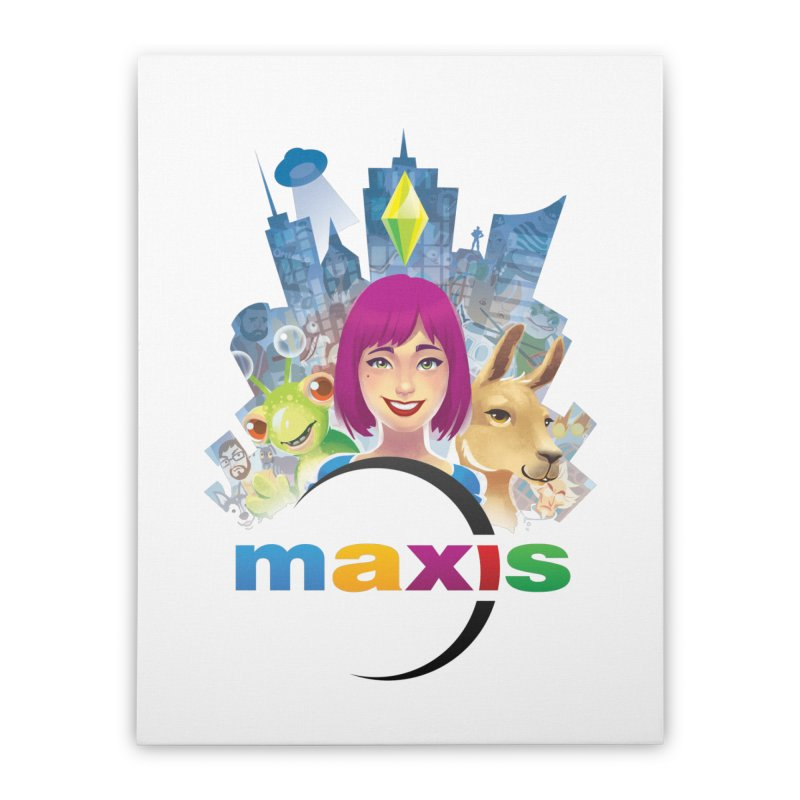 Maxis Studio Art Home Stretched Canvas by The Sims Official Threadless Store