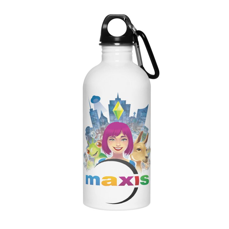 Maxis Studio Art Accessories Water Bottle by The Sims Official Threadless Store