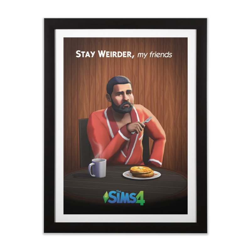 Weirder Stories in Framed Fine Art Print Black by The Sims Official Threadless Store