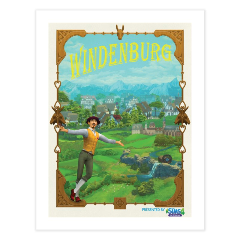 Welcome to Windenburg Home Fine Art Print by The Sims Official Threadless Store