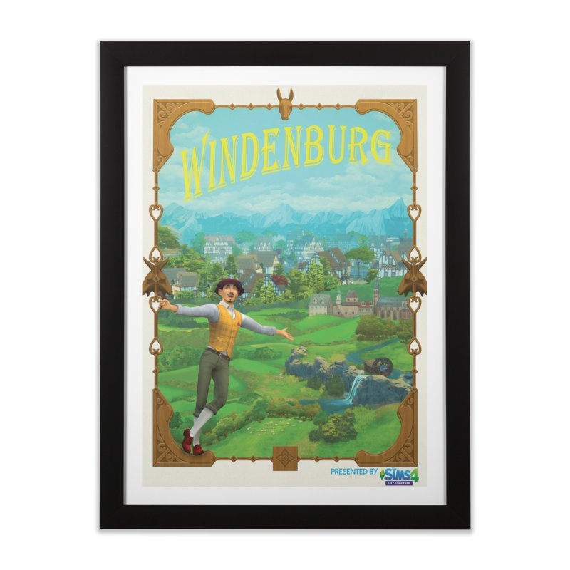 Welcome to Windenburg Home Framed Fine Art Print by The Sims Official Threadless Store