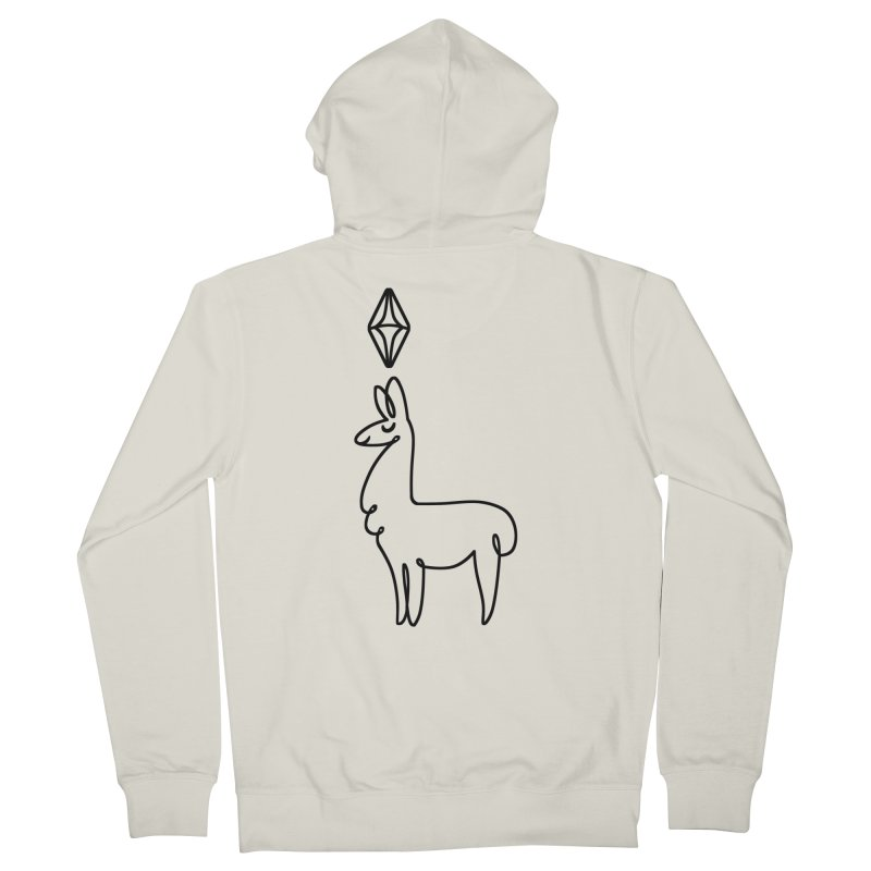 Lovely Llama Men's Zip-Up Hoody by The Sims Official Threadless Store